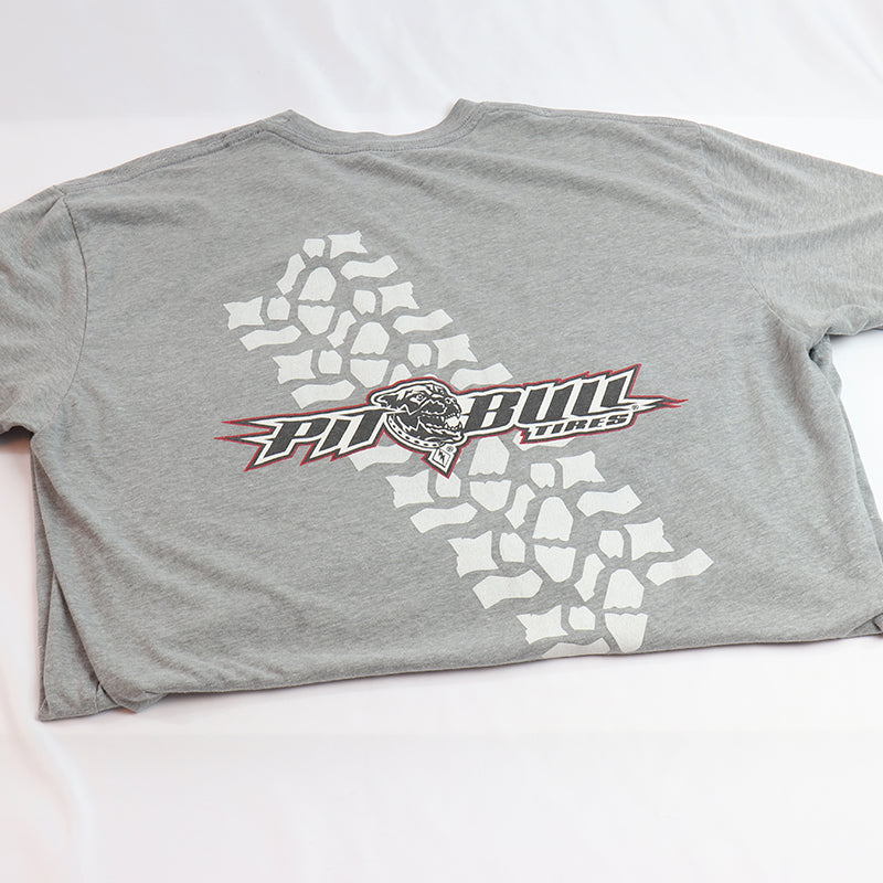 Gray - Pit Bull Tires T-Shirt