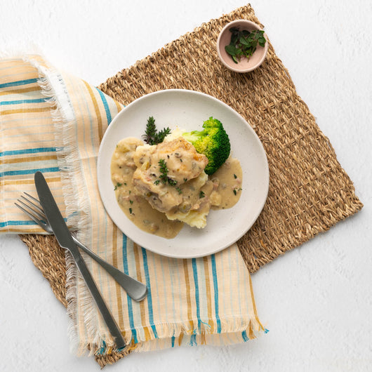 French Chicken Casserole with Creamy Mashed Potato (GF)
