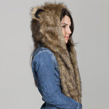 Faux Fur Animal Hood