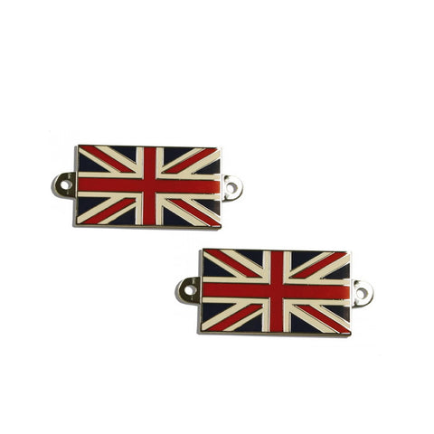 BADGE, Union Jack,metal base,screw on,pr