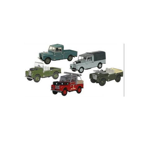 MODEL, Oxford Land Rover, set of 5, 1:76