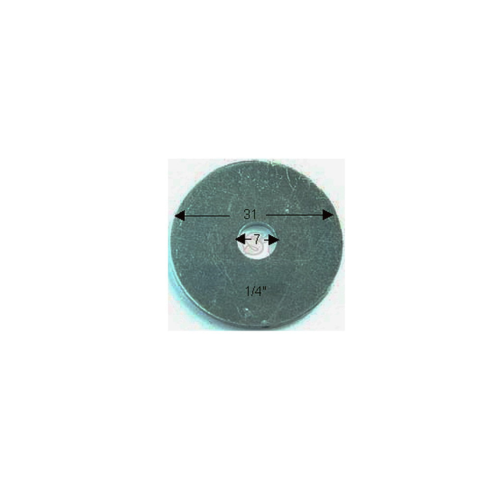 "WASHER, Fender, 1/4"", ZP"