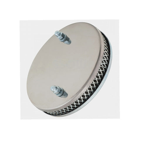 "FILTER ASSEMBLY, Pancake, chrome, to fit 1 3/4"" HS6 SU, CD175"