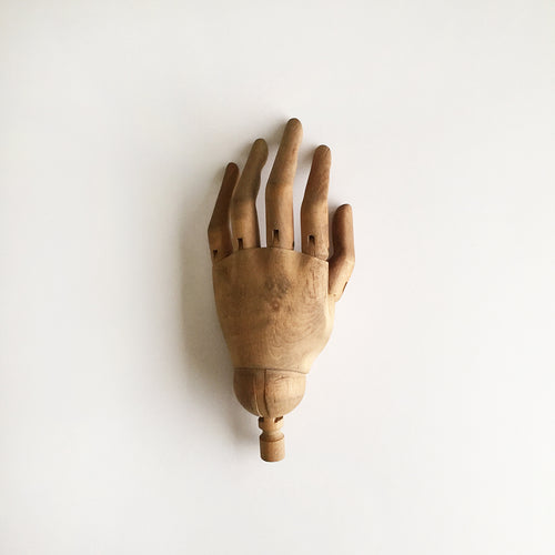 Antique mannequin wooden hand