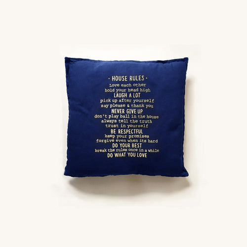 house rules pillow cover