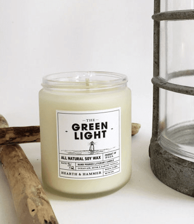 the green light literary candle