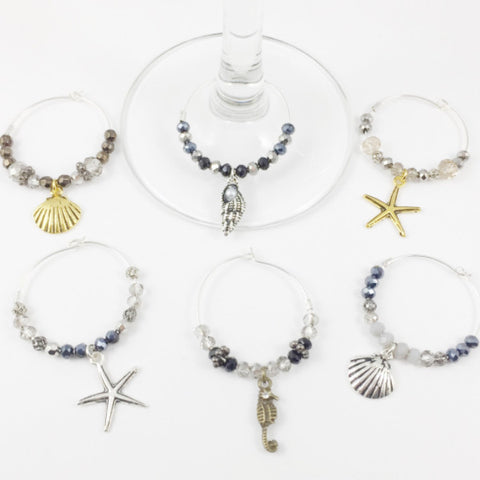 6 Beach Wine Charms