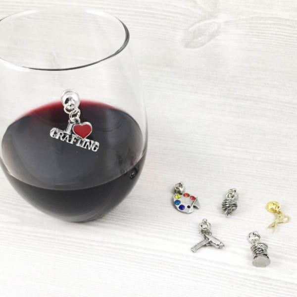 6 Magnetic Crafting Wine Charms