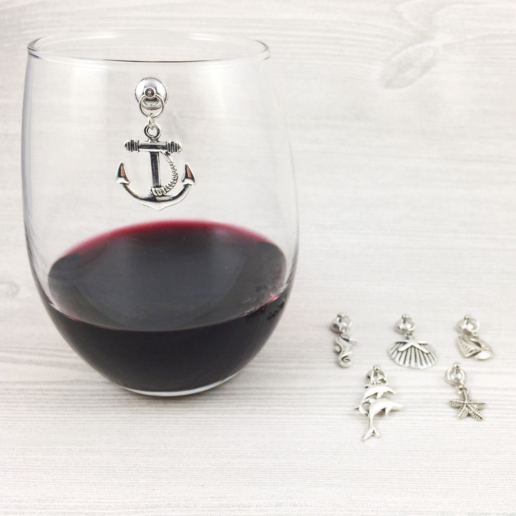 6 Magnetic Nautical Wine Charms