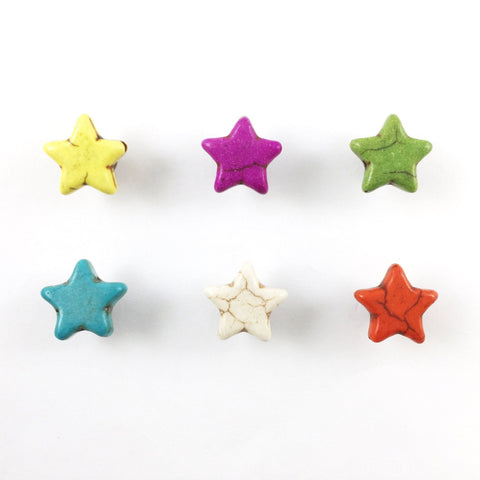 6 Magnetic Star Wine Charms