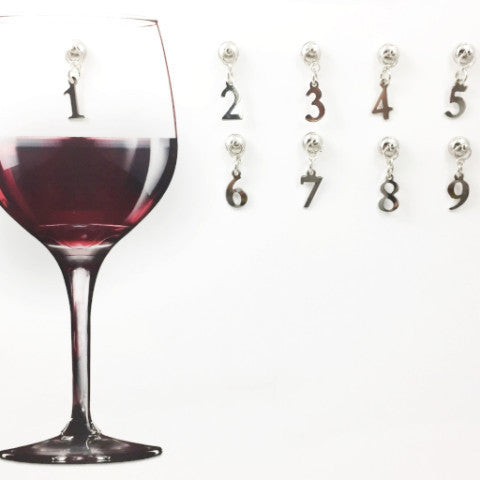 9 Magnetic Numeric Wine Charms
