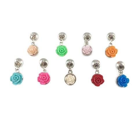 9 Colorful Flowers Magnetic Wine Charms