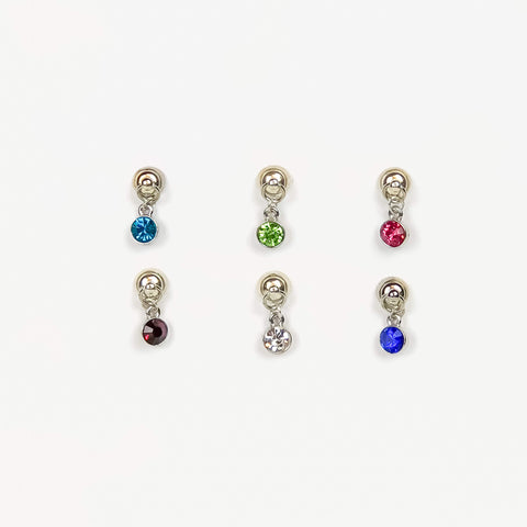 6 Magnetic Bright Colors Wine Charms