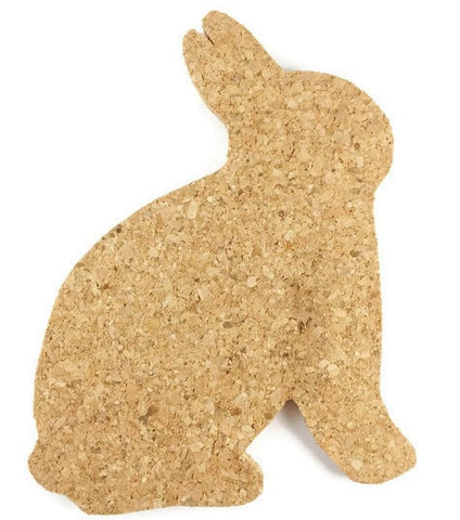 Bunny Rabbit Cork Coasters - Set of 4