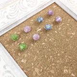 8 Colorful Glitter Thumbtacks