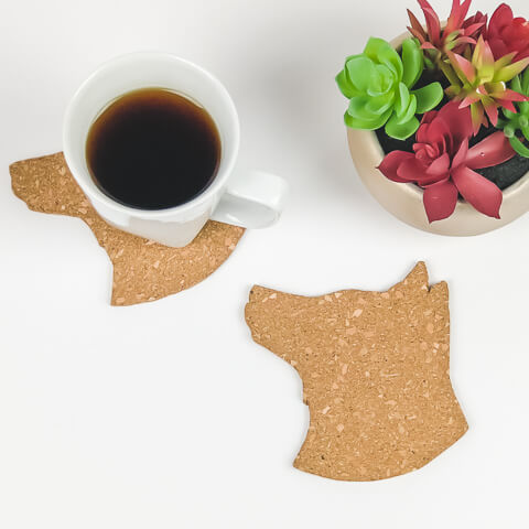 Dog Cork Coasters - Set of 4