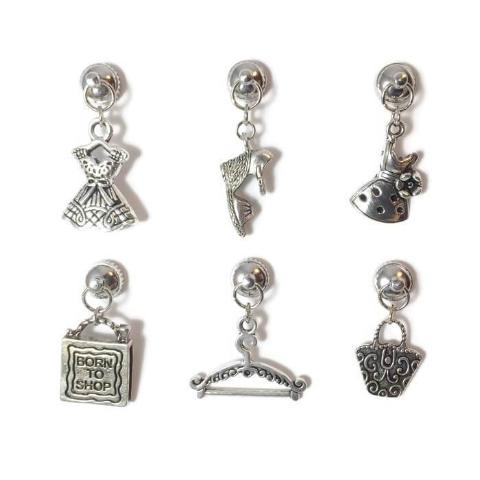 6 Magnetic Fashion Wine Charms
