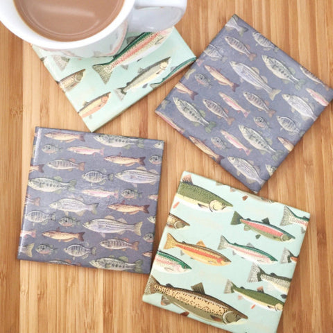 Fishing Coasters - Set of 4
