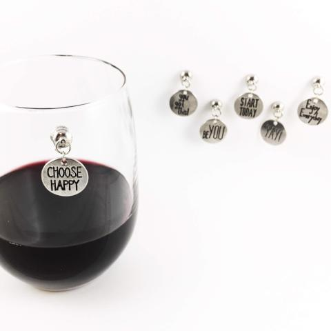 6 Inspirational Magnetic Wine Charms