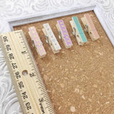 Mini Multi-Color Clothespin Push Pins