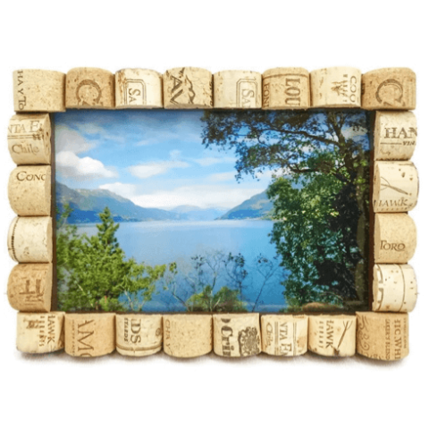 Wine Cork Picture Frame With Reused Wine Corks