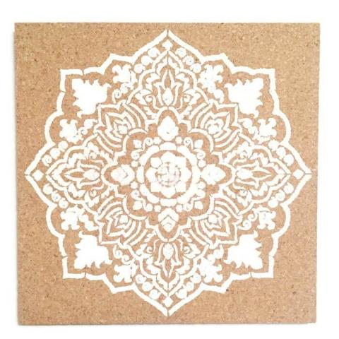 White Decorative Cork Board