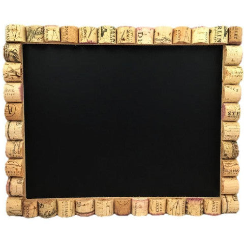 Wine Cork Chalkboard With Reused Wine Corks
