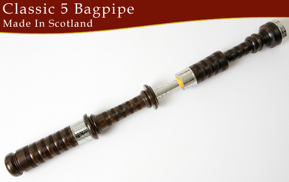 Wallace Classic 5 Bagpipes - Engraved (CITES CLeared)