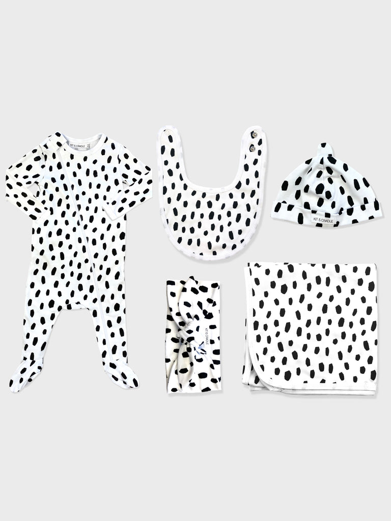 Black Dalmatian Australian Made Baby Bundle Kit & Cradle