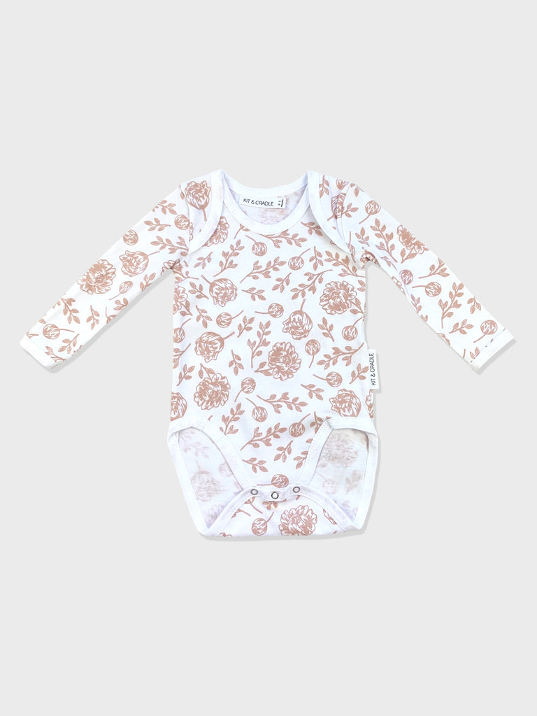Blush Peony Australian Made Long Sleeve Bodysuit Kit & Cradle