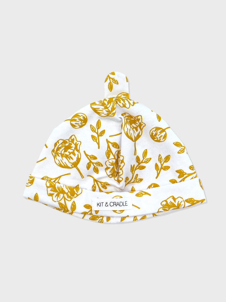 Golden Peony Australian Made Baby Beanie Kit & Cradle