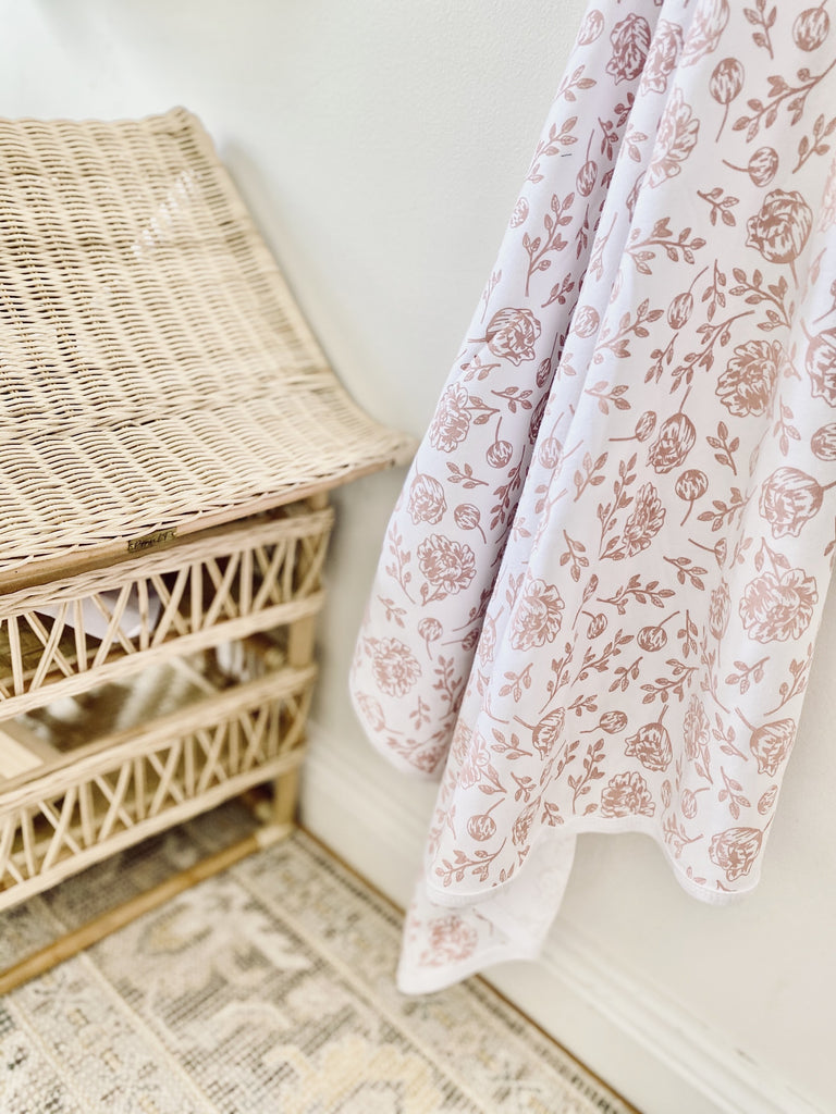 Blush Peony Baby Blanket Kit & Cradle