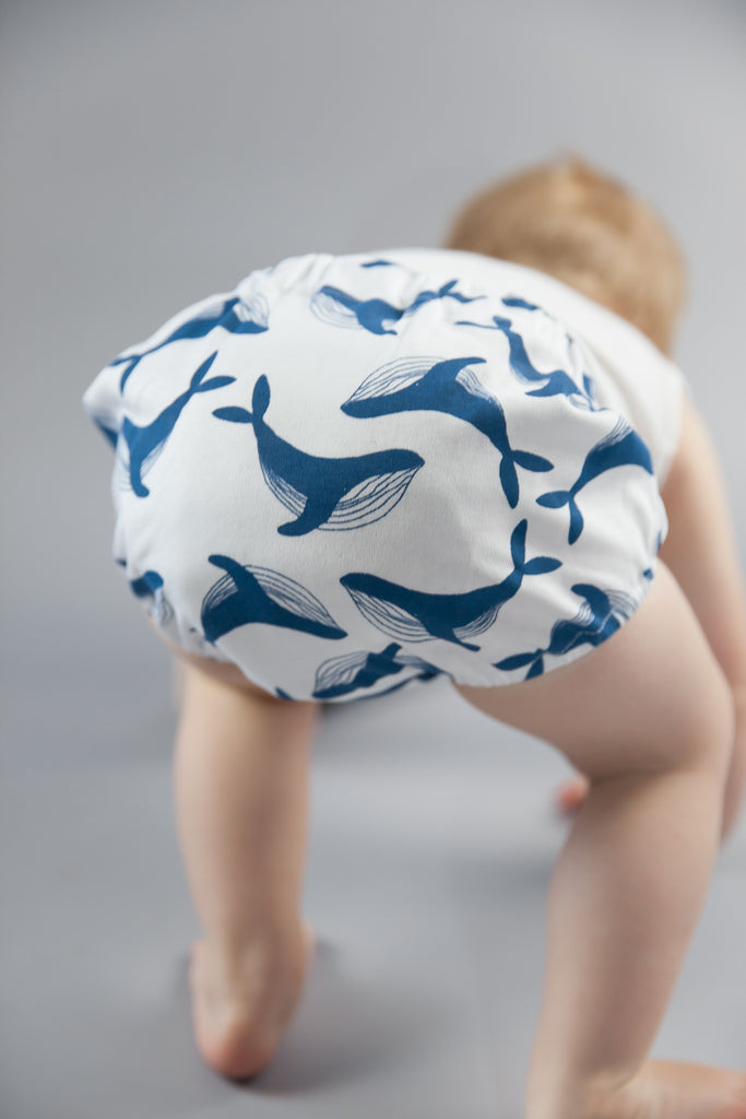 Whale Baby Bloomers Kit & Cradle