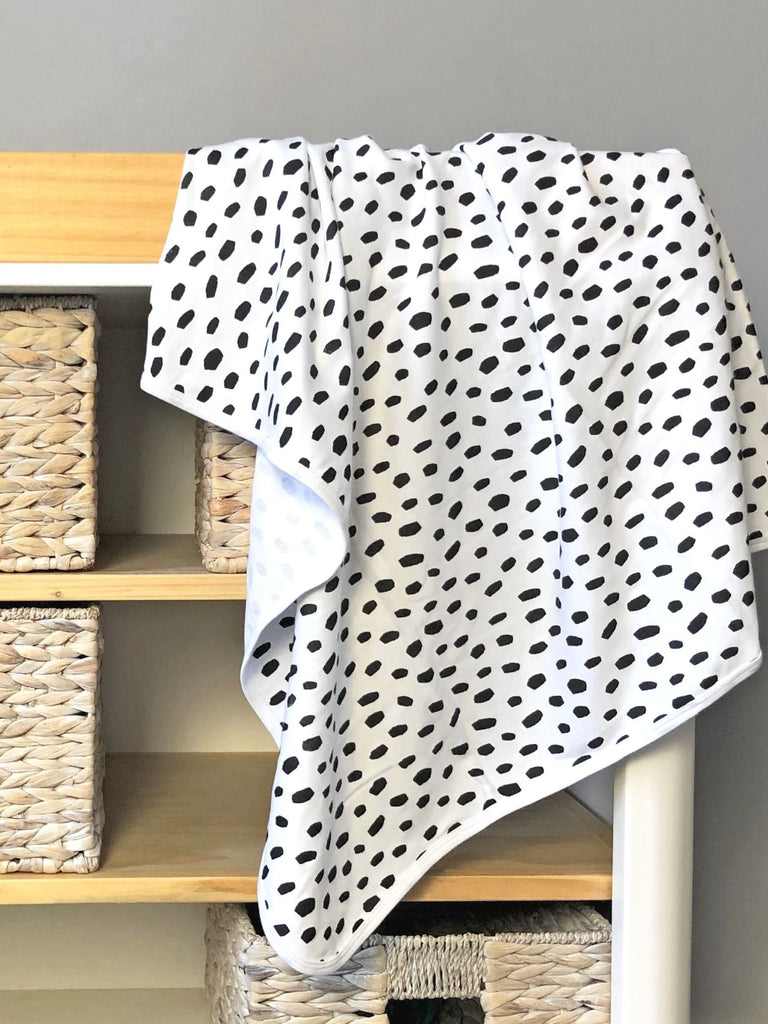 Kit & Cradle Baby Blanket Black Dalmatian