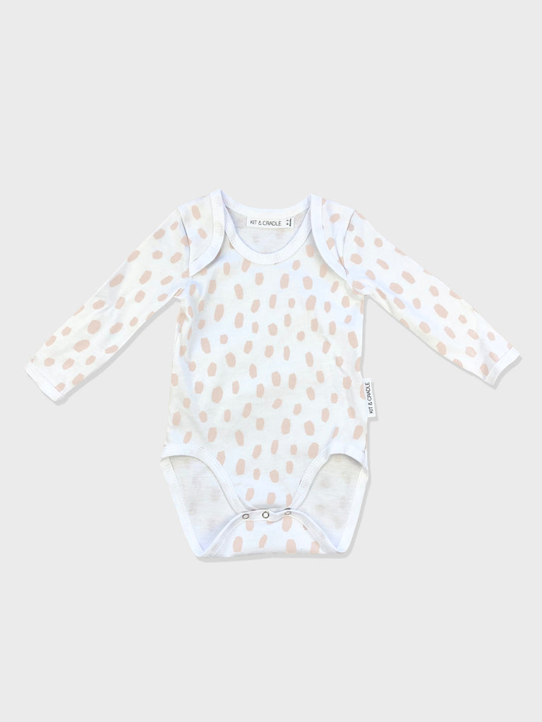 Pink Dalmatian Australian Made Long Sleeve Bodysuit Kit & Cradle
