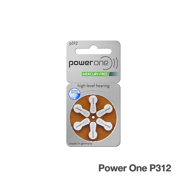 Power One Hearing Aid Batteries Size 312 (P312)