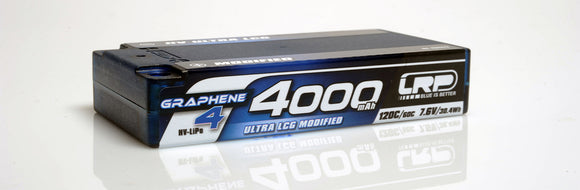 LRP HV Ultra LCG SHORTY GRAPHENE-4 4000MAH 7.6V LIPO