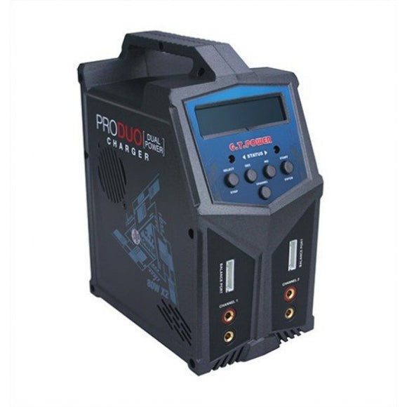 X2 Pro Duo/Dual AC/DC 80W/7A per ch, 1-6S Multi Chemistry Lipo/LiHV/LiFe/Li-ion/NiMH-NiCd/PB Charger, by GT Power