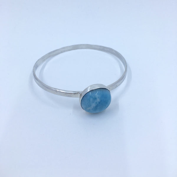 Blue Dreams - Larimar Bangle - MoonandSeaDesigns