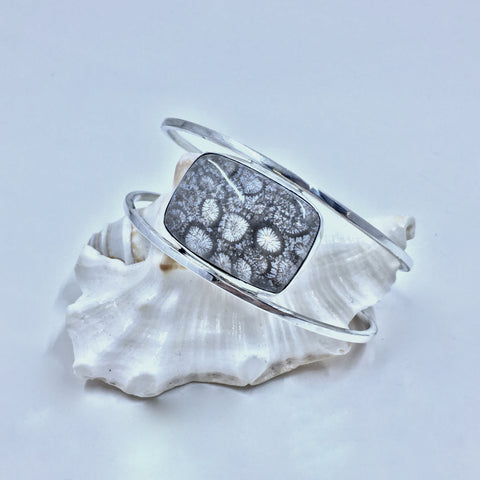 Fossil Coral Cuff - MoonandSeaDesigns