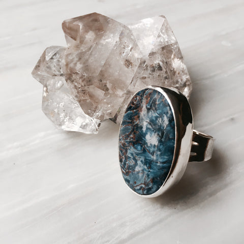 Custom Size ~ Pietersite Statement Ring - MoonandSeaDesigns