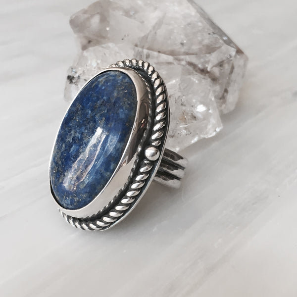 Lapis Lazuli Statement Ring - MoonandSeaDesigns