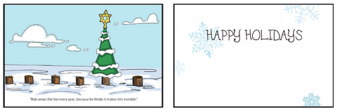Greeting Card Bob the Tree (holiday)