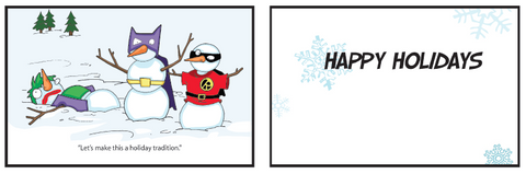 Greeting Card Joker in the Snow (holiday)