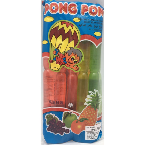 B026A Pong Pong - Jelly Tubes 70g  - 10 bags/ 1CTN - New Eastland Pty Ltd - Asian food wholesalers