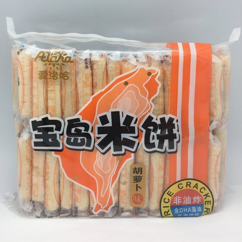 C007AC Alaha Brand - Rice Crackers Carrot Flavour 500g - 12 bags/1ctn - New Eastland Pty Ltd - Asian food wholesalers