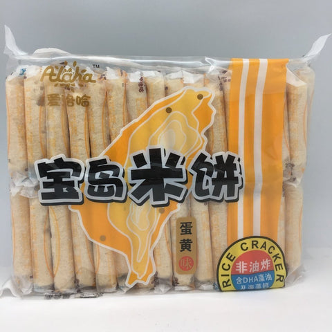 C007AE Alaha Brand - Rice Crackers Egg Flavour 500g- 12 bags /1ctn - New Eastland Pty Ltd - Asian food wholesalers