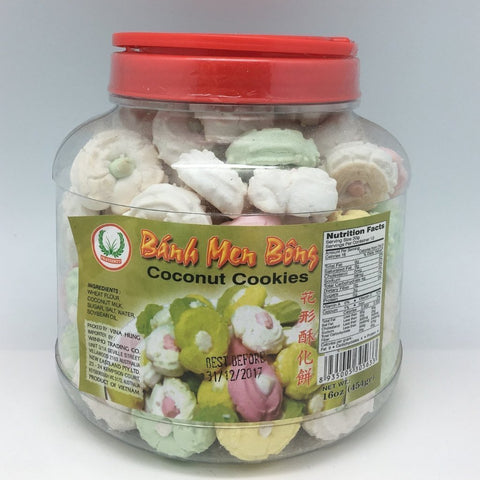 C013F Fraternity Brand - Coconut Cookies 454g - 12 bot/1ctn - New Eastland Pty Ltd - Asian food wholesalers