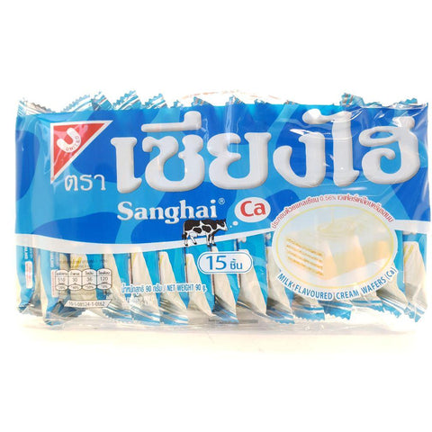 C017W ShangHai Brand -Wafer Biscuits Milk Flavoured 90g x6 - 6 /CTN - New Eastland Pty Ltd - Asian food wholesalers