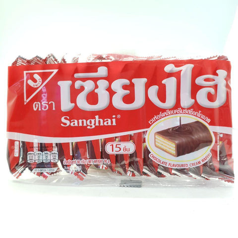C017WC ShangHai Brand -Wafer Biscuits Chocolate Flavoured 90g x6 - 6 /CTN - New Eastland Pty Ltd - Asian food wholesalers